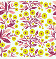 floral seamless pattern and flowers vector image vector image