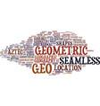 geo word cloud concept vector image vector image