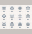 geometric symbols set vector image vector image