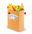 Healthy diet Fresh food in a paper bag vector image vector image
