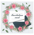 invitation card collection on wooden background 5 vector image vector image
