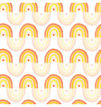 kids rainbow seamless pattern repeating vector image vector image