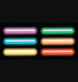 label design with different color of neon lights vector image
