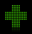 light green cross vector image vector image