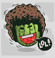 lol lots of laughs with laughing watermelon with vector image