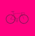 minimalist road bike vector image