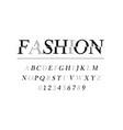 modern font or alphabet fashion font and alphabet vector image vector image