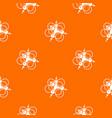 molecule connection pattern orange vector image vector image