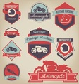 Motorcycle Shop Label Design 2 vector image vector image