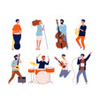 Music band characters rock group musicians