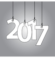 New Year card with hanging numbers vector image vector image