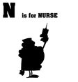Nurse cartoon silhouette vector image vector image