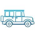 off road sport truck vector image vector image