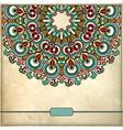 Ornamental floral circle pattern vector image vector image
