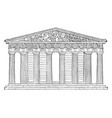 parthenon restored highest part of the acropolis vector image vector image