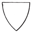 pointed triangular shield have a simple triangle vector image vector image