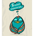 Poster with funny bird vector image vector image
