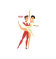 professional dancer couple dancing ballet vector image vector image