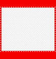 red and white border made of animal paw vector image vector image