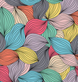 Seamless abstract wavy hand-drawn pattern Endless