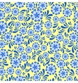 Seamless blue floral pattern in Russian gzel style vector image vector image