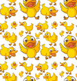 Seamless design of ducklings vector image vector image