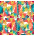 Seamless triangle patterns in retro style vector image vector image
