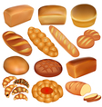 set of loaves of bread vector image