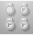 Set of paper badges with ribbons Set of paper vector image vector image