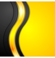Shiny glowing yellow waves background vector image vector image