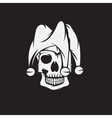skull in jester cap design template vector image vector image