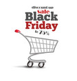 special discount template for sale black friday vector image