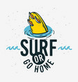 surfing surf sign label for promotion ads t shir vector image vector image