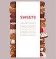 sweets candy banner dessert vector image vector image