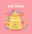 teapot baby shower vector image