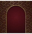 Traditional ornamental background with arched vector image vector image