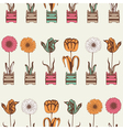 Vintage Summer Flowers Pattern vector image