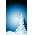 winter background with snow stars and snowflakes vector image