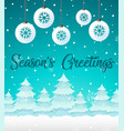 winter snow christmas template vector image vector image