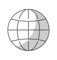 world sphere icon vector image vector image