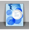 booklet with blue watercolor spots vector image