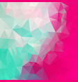abstract polygon square background mint green pink vector image vector image