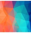 abstract retro low poly background vector image vector image