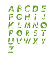 alphabet leaf graphic design template isolated vector image vector image