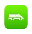 ambulance emergency van icon digital green vector image vector image