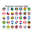 American countries flags vector | Price: 1 Credit (USD $1)