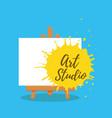 art studio design interior colorful vector image
