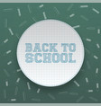 back to school circle banner with shadow vector image