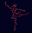 ballerina prima polygonal triangle papercut vector image vector image