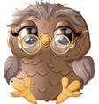 beautiful owl drawing vector image